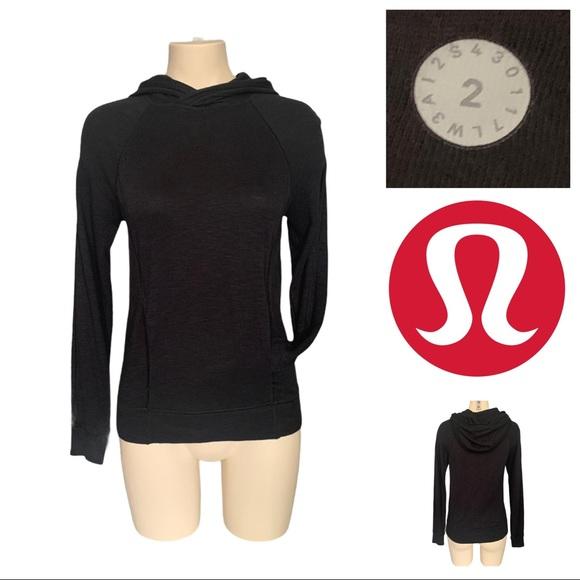 Lululemon More Than Modal Hoodie Pullover In Black